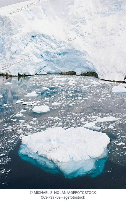 Views of the scenic Lemaire Channel on the west side of the Antarctic peninsula in Antarctica