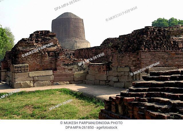 dhamekh stupa, sarnath, varanasi, uttar pradesh, India, Asia