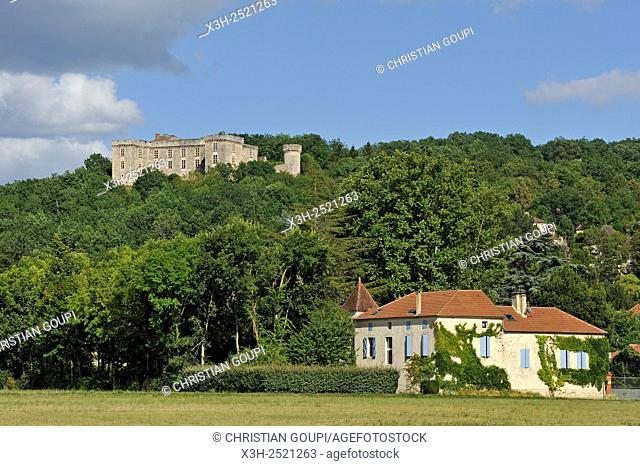 Chateau de La Coste at Grezels, Lot department, region of Midi-Pyrenees, southwest of France, Europe