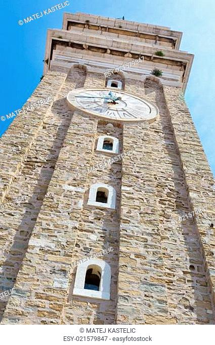 Bell tower in Piran, Slovenia