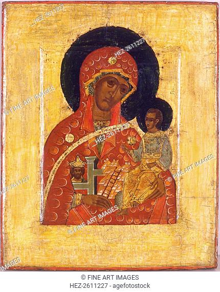 The Virgin The Mountain torn out not by Hands, 16th century. Artist: Russian icon