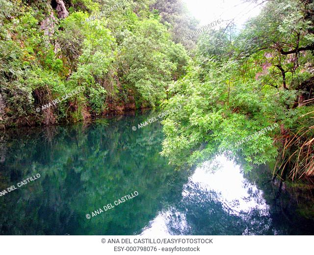 Guadalquivir river source, Cerrada de Utrero, Sierras de Cazorla and Segura nature reserve, Andalusia, Jaen province, Spain