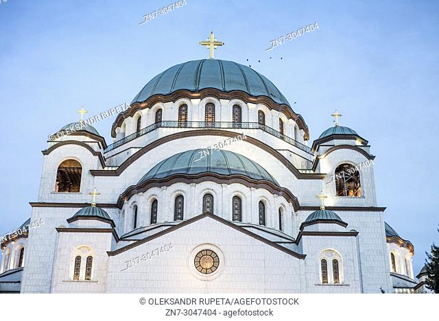 Church of Saint Sava in Belgrade, Serbia. Saint Sava Temple is one of the largest Orthodox churches in the world