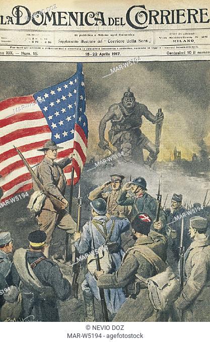 cover of the newspaper 'la domenica del corriere' dated 1915-1918