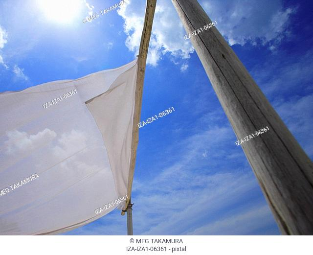 Low angle view of a sunshade