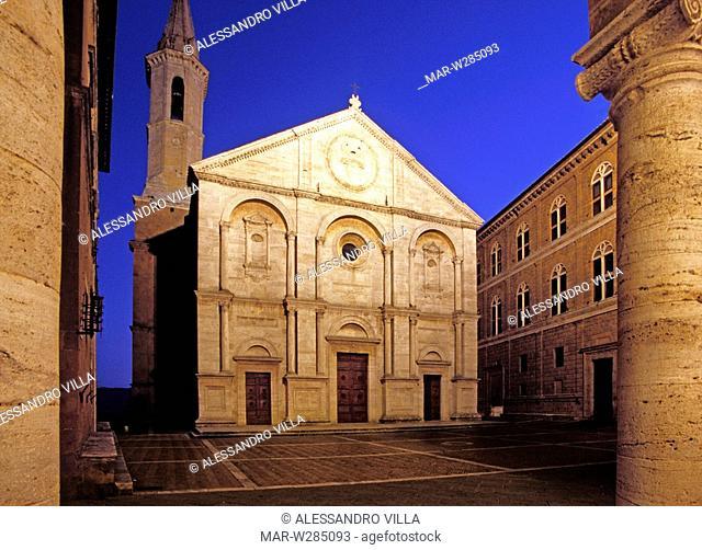 europe, italy, tuscany, pienza, dome