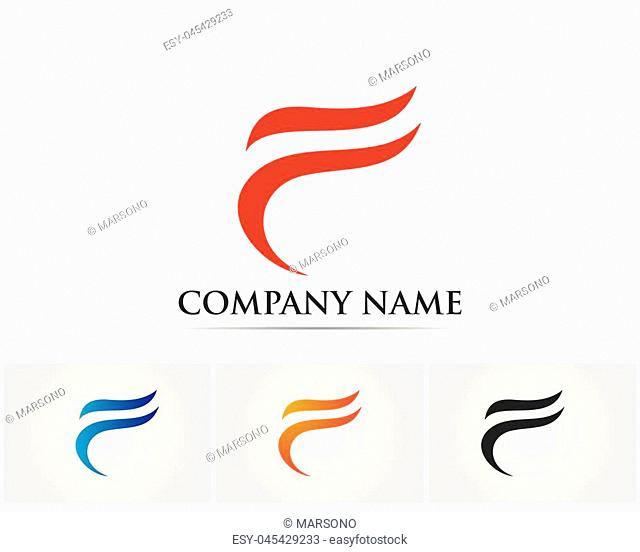 F letter logo and symbols template vector icons