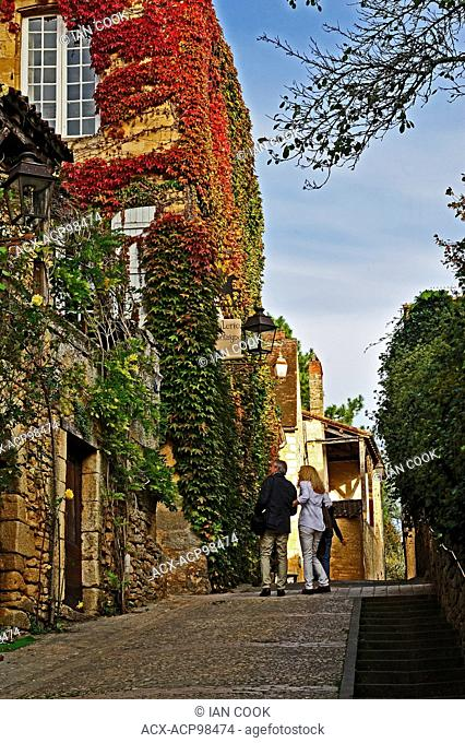 Rue Montaigne, Sarlat-la-Caneda, Dordogne Department, Aquitaine, France