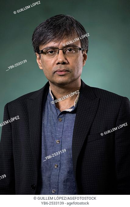 EDINBURGH, SCOTLAND, Sunday 16th, AUGUST 2015: Indian English author and academic Amit Chaudhuri appears at the Edinburgh International Book Festival