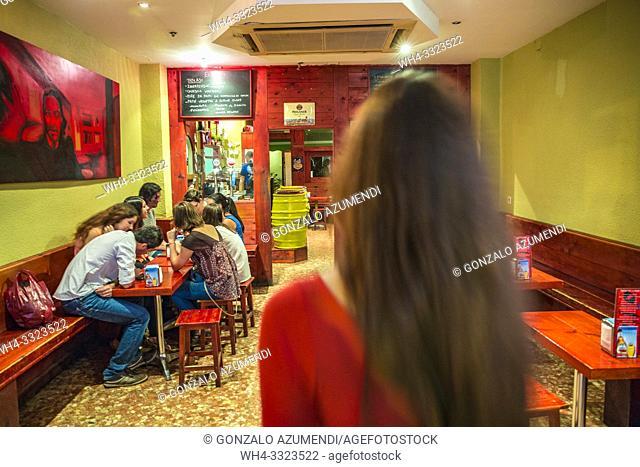 Taberna El Rojo Bar. Ruzafa. Valencia. Comunidad Valenciana. Spain