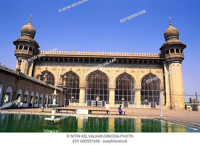 Mecca masjid , Hyderabad , Andhra Pradesh , India