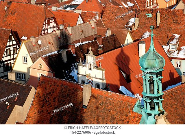 View of the Town Hall of Rothenburg ob der Tauber