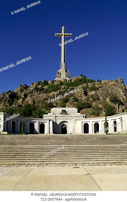 Valley of the Fallen (San Lorenzo de El Escorial) Madrid (Spain). Access to the Valley of the Fallen