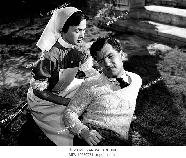 Dorothy Alison & Kenneth More Characters: Nurse Brace & Douglas Bader Film: Reach For The Sky (1954) Director: Lewis Gilbert 15 October 1956