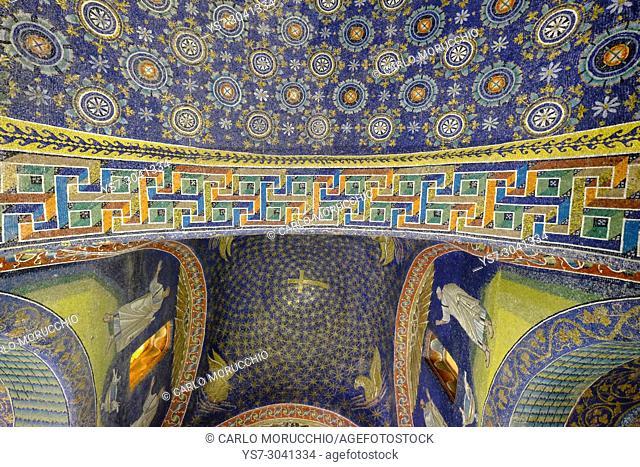 Mausoleum of Galla Placidia, Ravenna, Italy, Europe