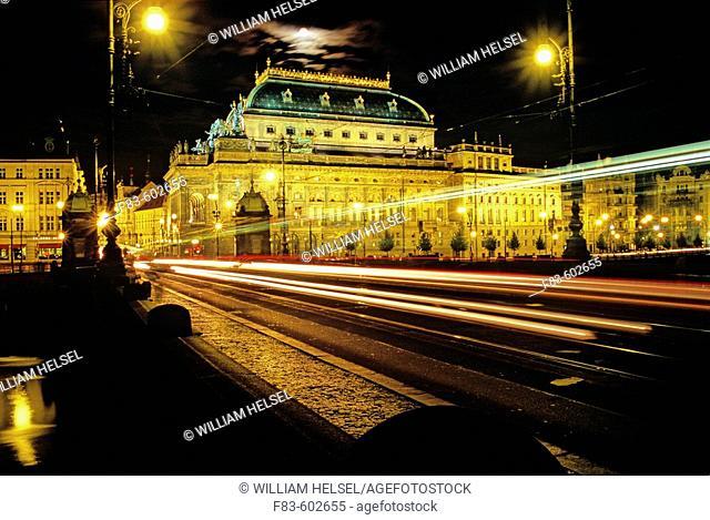 National Theater, Legions Bridge. New Town. Prague. Bohemia. Czech Republic