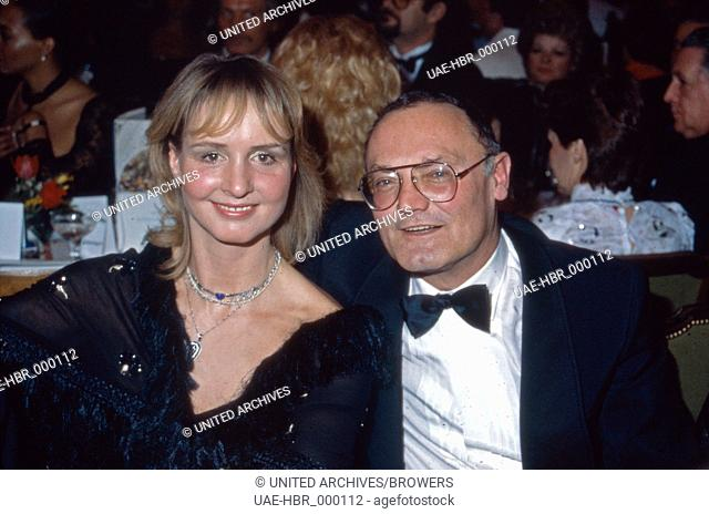 Die deutschen Schauspieler Diana Körner und Werner Kreindl, Deutschland 1980er Jahre. German actor couple Diana Koerner and Werner Kreindl, Germany 1980s