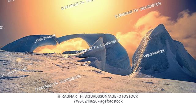 Glacial landscapes, Snaefellsjokull Glacier, Iceland