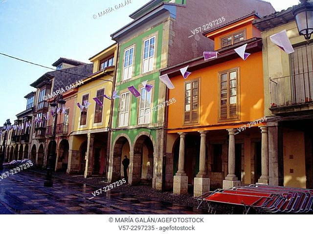 Galiana street. Aviles, Asturias, Spain