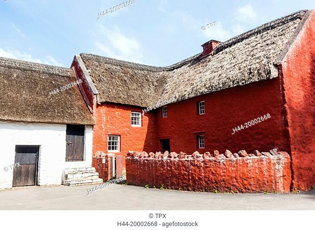 Wales, Cardiff, St Fagan's, Museum of Welsh Life, Historic Village House