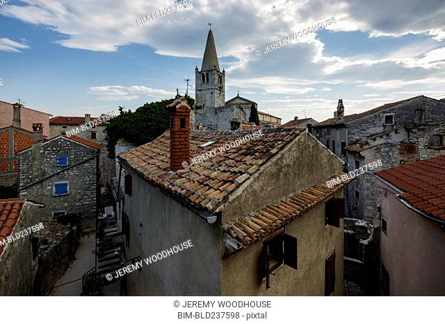 Clouds over rooftops, Bale-Valle, Istria, Croatia