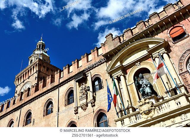 Palazzo d'Accursio, Bologna, Emilia-Romagna, Italy, Europe