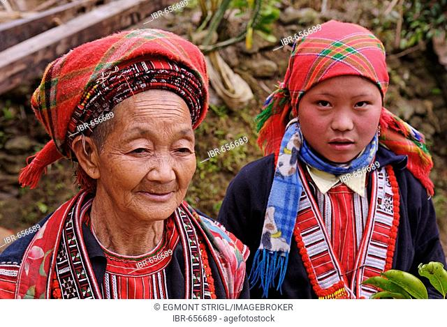 Red Zhao woman, Ha Giang Province, northern Vietnam