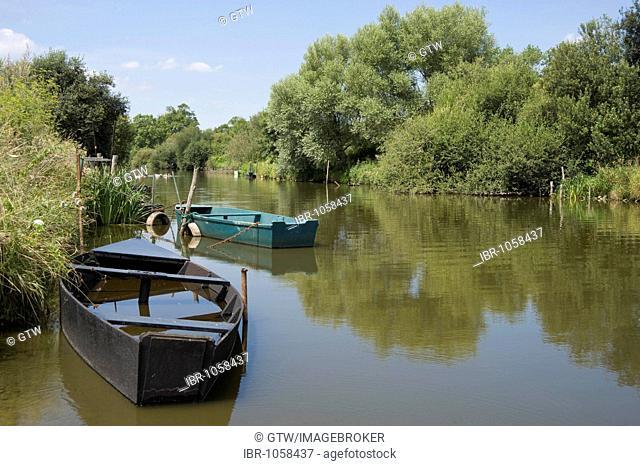 Port of Rozé, Site of the Ramsar Convention on Wetlands, Regional Natural Park of La Brière or Grande Brière, Pays de Loire, France, Europe