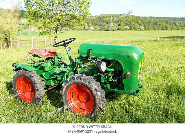 Michelstadt (village), Hessia, Germany, lovely, vineyard tractor, type A 12, year of manufacture in 1960, 13 HP, cubic capacity 604 cubic centimetres with...