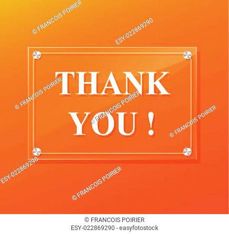 thank you orange illustration