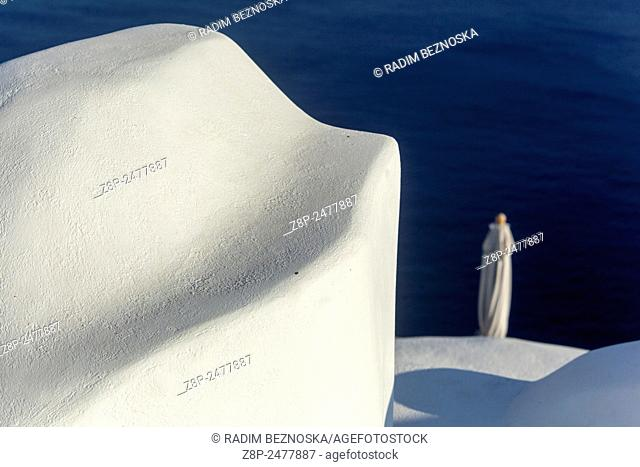 Terrace, Santorini, Cyclades Islands, Greece, Europe