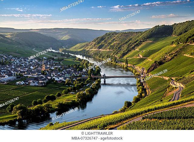 The Moselle loop at Trittenheim overlooking the vineyards