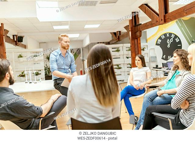 Business people having a project meeting in office