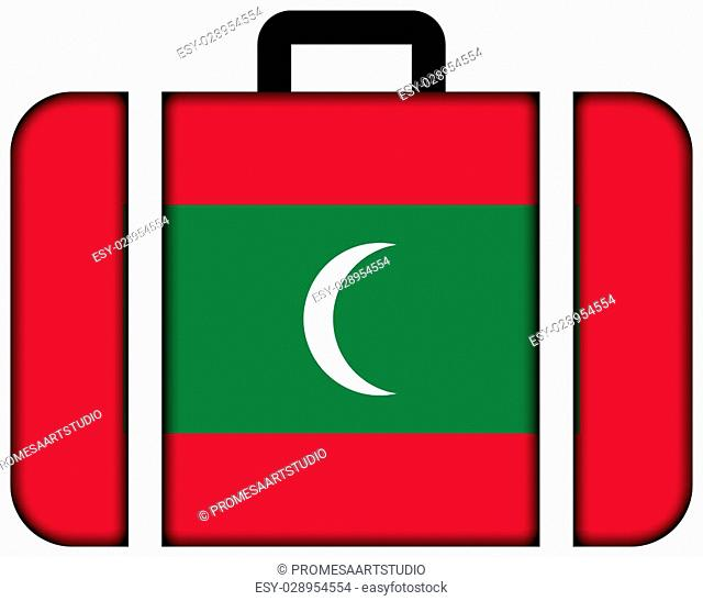 Suitcase with Maldives Flag