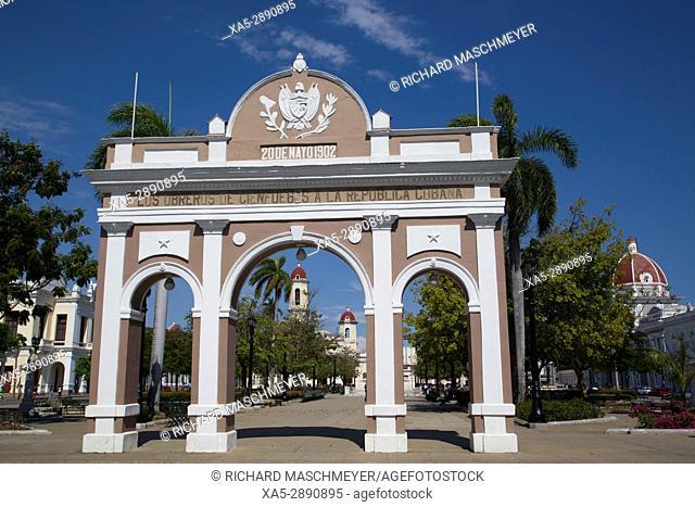 Arch of Triumph in Jose Marti Park, Cienfuegos City, UNESCO World Heritage Site, Cienfuegos, Cuba