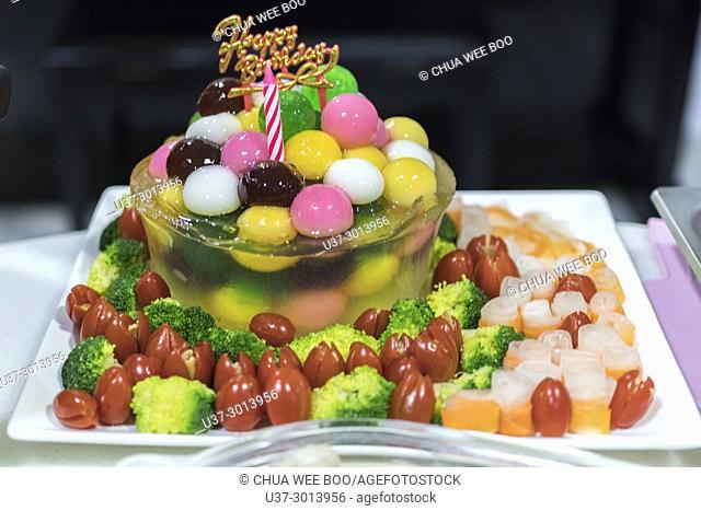Pudding birthday cake, Kuching, Sarawak, Malaysia