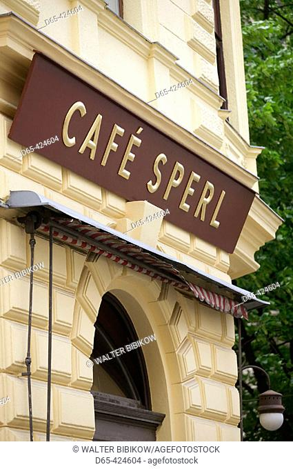 Cafe Sperl, Vienese Café (and favourite cafe of young Adolf Hitler). Vienna. Austria. 2004
