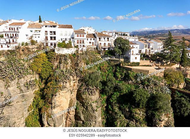 Tajo de Ronda seen from the bridge. Malaga, Spain