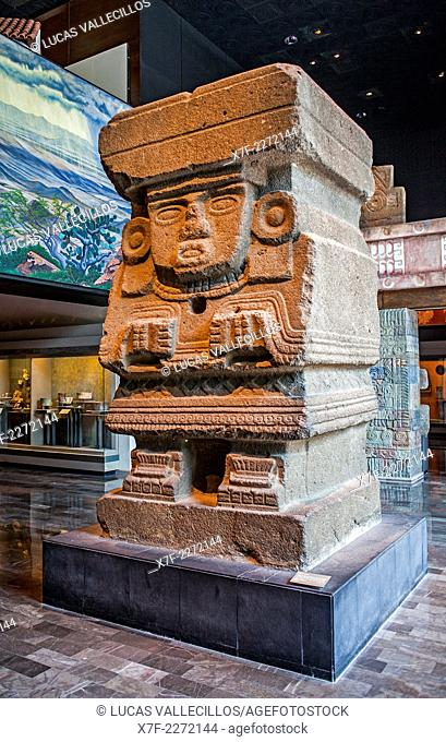 Chalchiuhtlicue goddess, National Museum of Anthropology. Mexico City. Mexico
