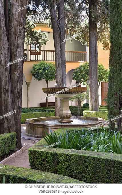 Spain, Andalusia, Granada, World Heritage Site, The Alhambra, Nasrid palaces, Patio de Lindaraja