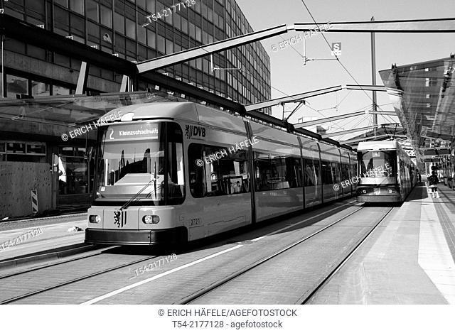 Tram stop in Dresden