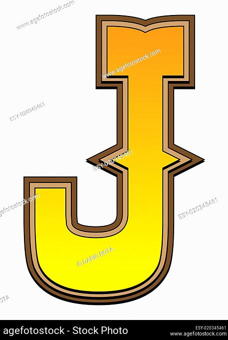 Western alphabet letter - J