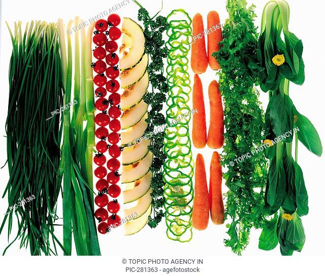 Parsley,Leek,Green Pepper,Carrot And Tomatoes