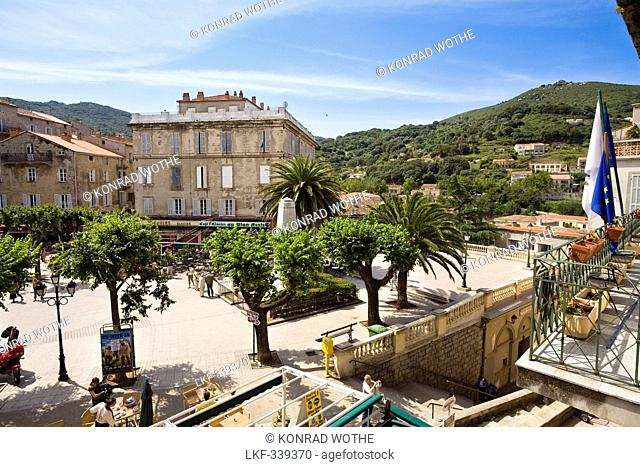 Place de la liberation, Sartene, Corsica, France, Europe