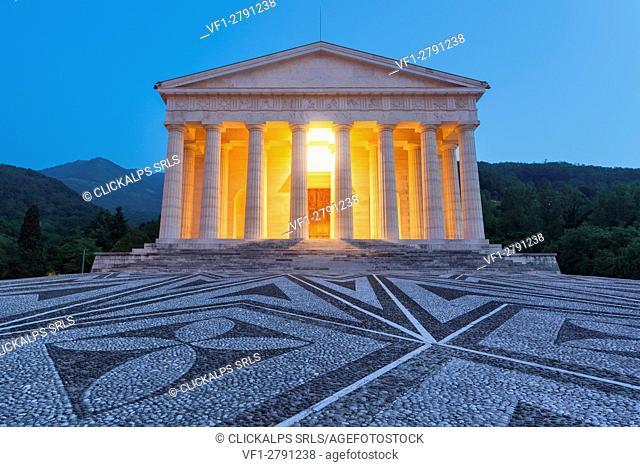 Europe, Italy, Veneto, Possagno, Treviso. The Temple of Antonio Canova