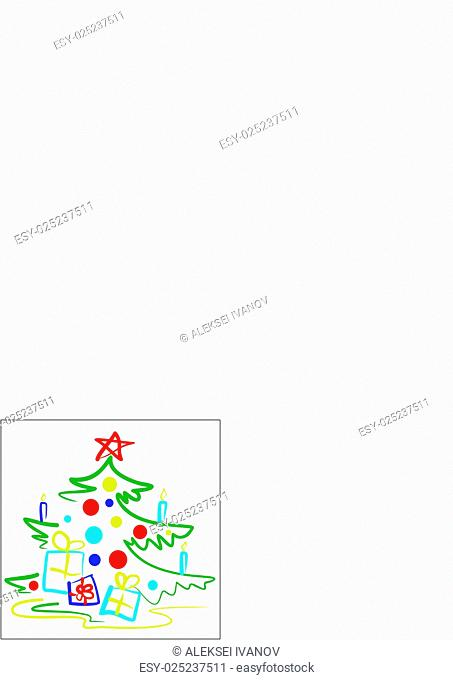 A stylized illustration of a Christmas tree