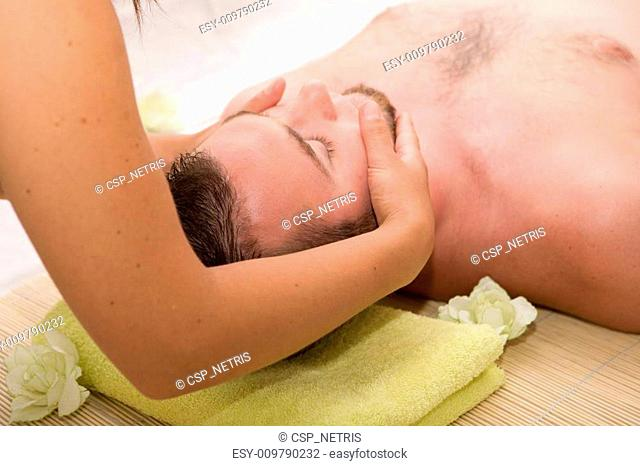 man in massage