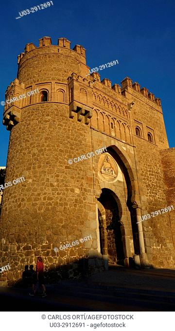 Puerta del Sol. One of the ancient entrances to the spanish historical town of toledo. Spain, Europe