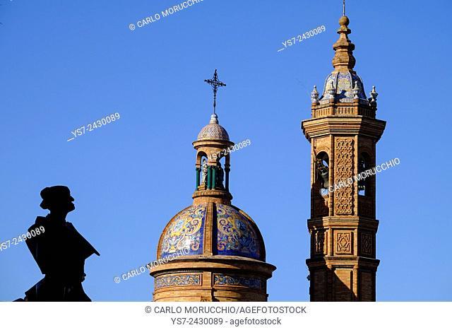 Moorish Revival Chapel of El Carmen next to the Triana bridge, Seville, Andalusia, Spain