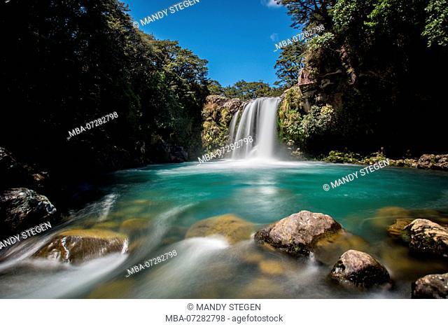 New Zealand, Tawhai Falls in Tongariro National Park